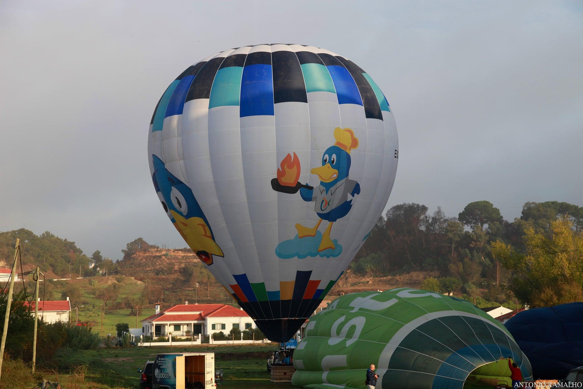 Publicidad desde un globo cautivo