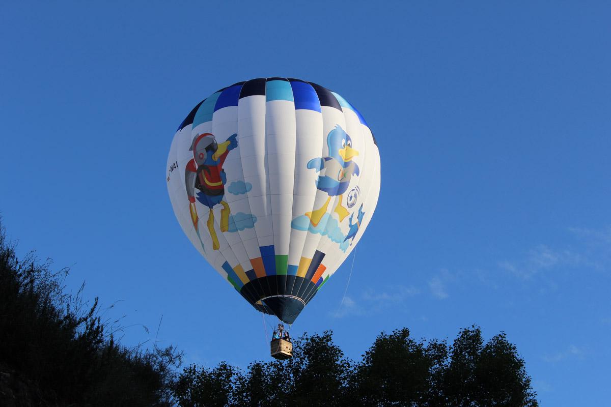 Vuelo en globo cautivo para eventos especiales
