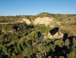 Vuelo en globo aerostático sobre el río Alcanadre en Huesca