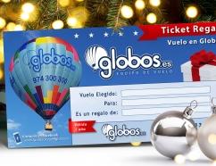Ticket regalo vuelo en globo, sorprende por navidad