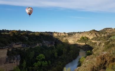 Vuelo en globo sobre el Río Alcanadre