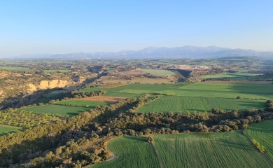Paisajes sobrevolando zona Alcanadre Angues
