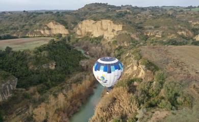 Río Alcanadre vuelo en globo