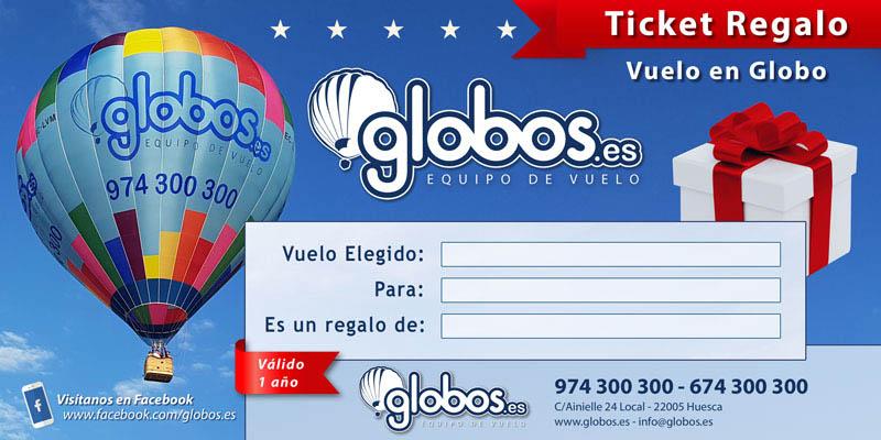 Ticket regalo vuelo en globo